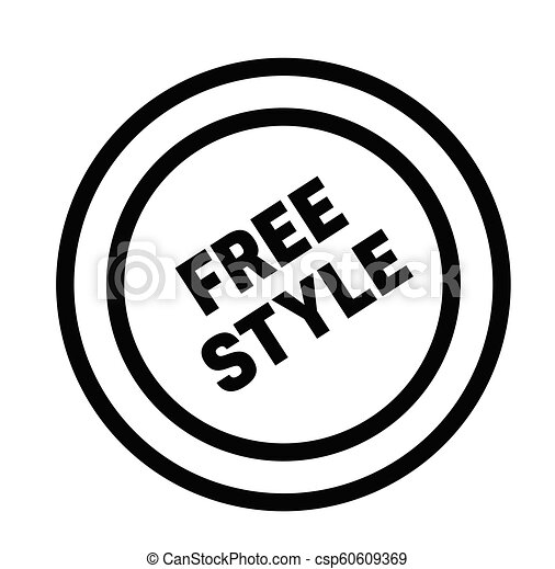 freestyle rubber stamp - csp60609369