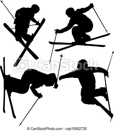 Freestyle Skier - csp15952735