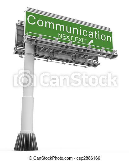 Freeway EXIT Sign Communication - csp2886166