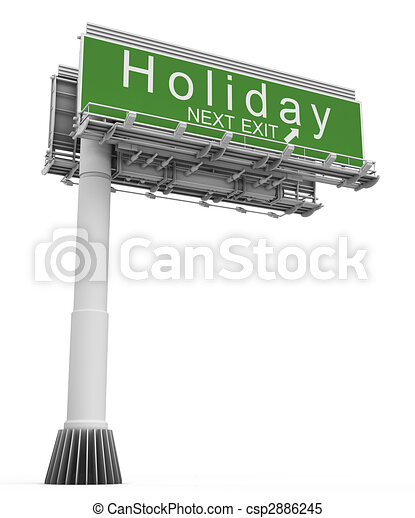 Freeway EXIT Sign Holiday - csp2886245