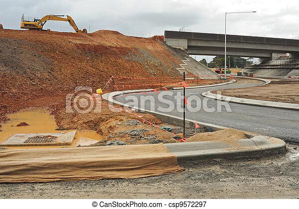 Freeway junction construction - csp9572297