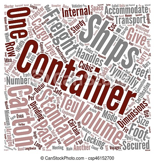 Freight Containers Transformed Logistics Word Cloud Concept Text Background - csp46152700