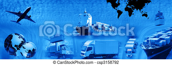 Freight template 2010 - csp3158792