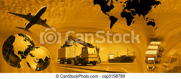 Freight template 2010 - csp3158789