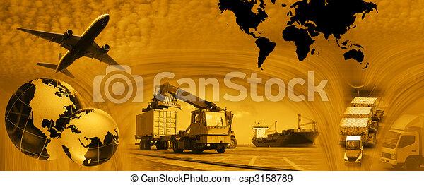 Freight template 2010 - csp3158789