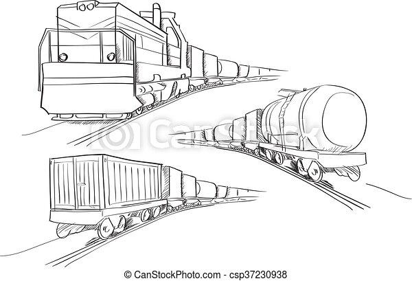 Freight train - csp37230938