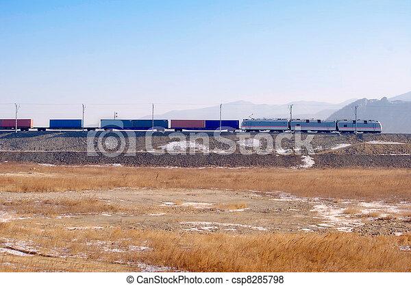 Freight train - csp8285798