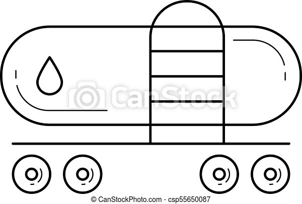 freight train vector line icon freight train vector line icon rh canstockphoto ca train vector images train vector png
