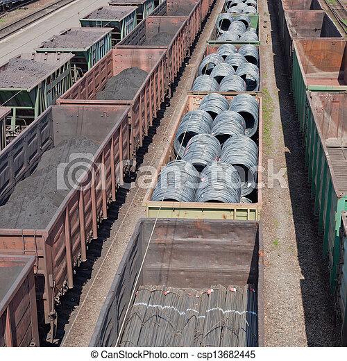 Freight trains - csp13682445