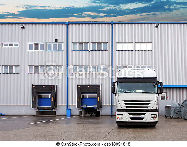 Freight Transportation - Truck in the warehouse - csp18034818