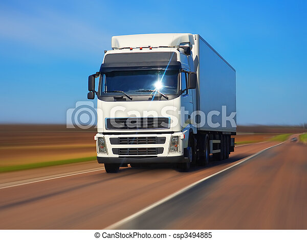 Freight truck on the road - csp3494885