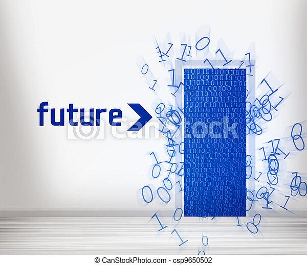 fremtid, dør - csp9650502