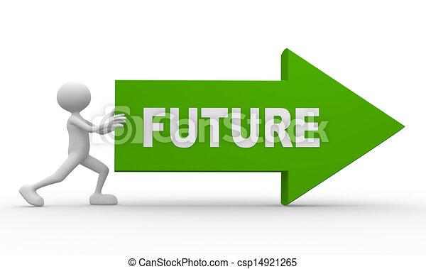 fremtid, glose, pil - csp14921265