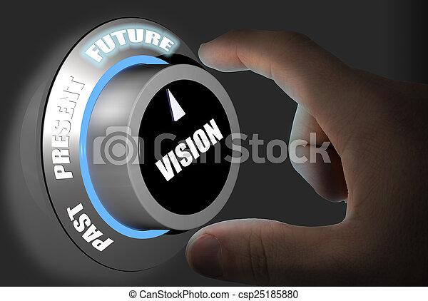 fremtid, prognose - csp25185880