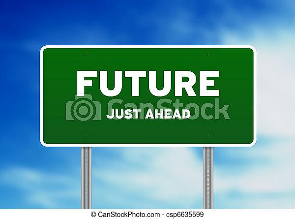 fremtid, vej underskriv - csp6635599