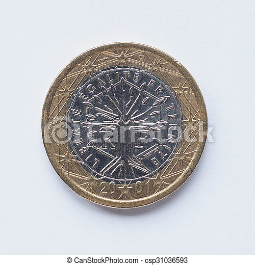 French 1 Euro coin - csp31036593