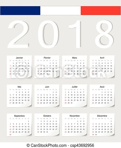 french 2018 calendar csp43692956