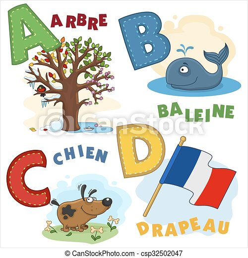 French alphabet part 1 - csp32502047