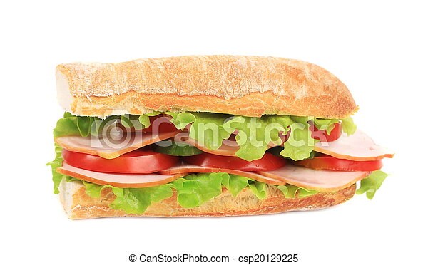 French baguette fresh sandwich. - csp20129225