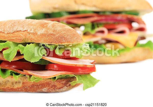 French baguette fresh sandwich. - csp21151820