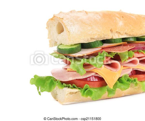 French baguette fresh sandwich. - csp21151800