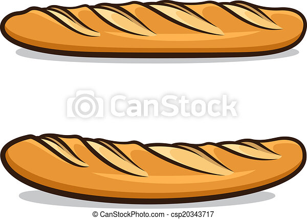 vector illustration of french baguettes isolated on a white background rh canstockphoto com Bread From Heaven Clip Art french bread clipart