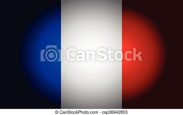 French black flag vector - csp36942803
