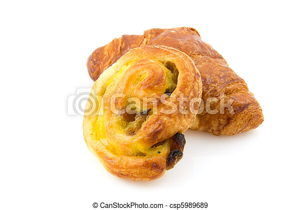 French bread over white background - csp5989689