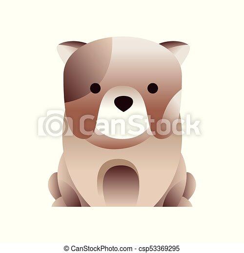 French bulldog dog, stylized geometric animal low poly design vector Illustration - csp53369295