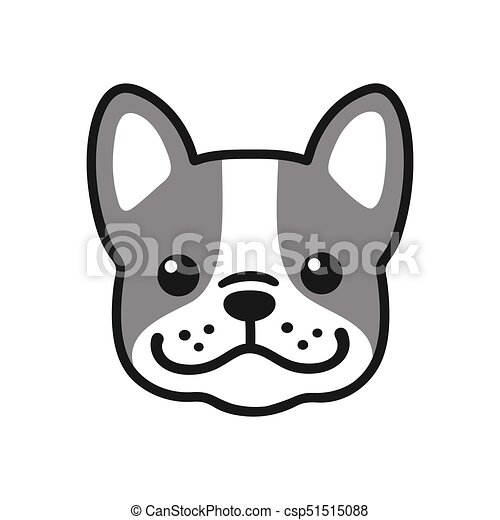 French bulldog face clip art
