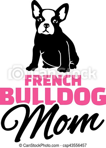french bulldog mom with dog silhouette clipart vector search rh canstockphoto com  dog clipart french bulldog