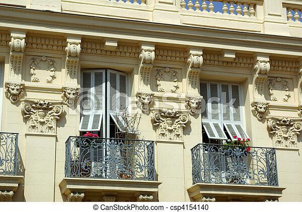 french burgess facade - csp4154140