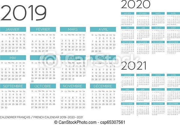 Calendrier Running 2020.French Calendar 2019 2020 2021 Vector