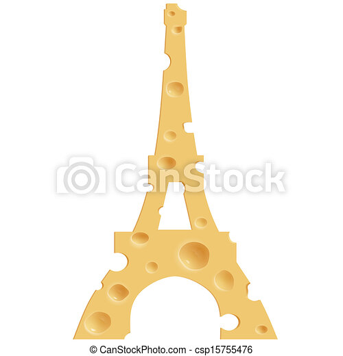 french cheese realistic cheese in the shape of the eiffel tower rh canstockphoto com French Bistro Clip Art French Cuisine Clip Art