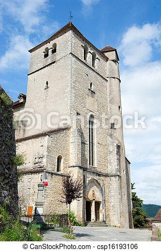 French church Saint-cirq-Lapopie - csp16193106