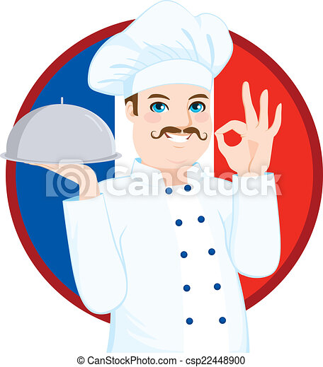 French Cuisine Chef With Mustache - csp22448900