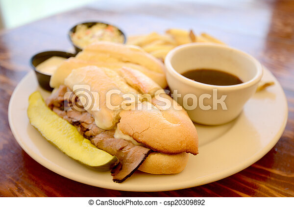 French Dip Sandwich - csp20309892