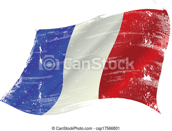 French flag grunge - csp17566801