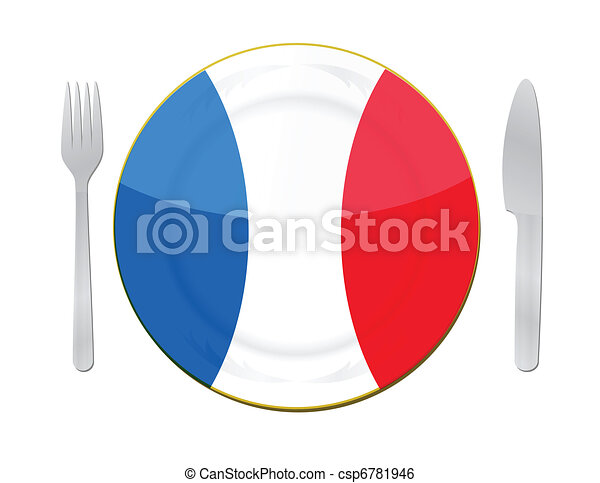 french  food illustration concept - csp6781946