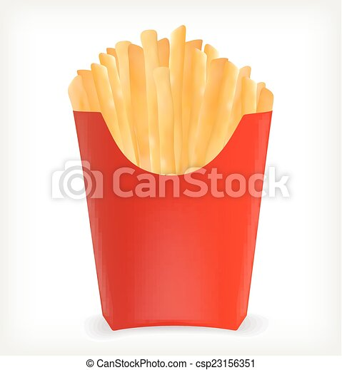 French Fries In A Red Package Template Design