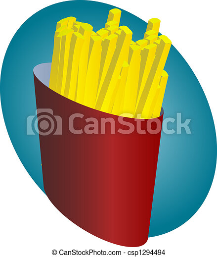 French fries - csp1294494