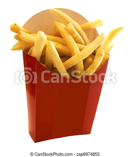 French fries in the red box - csp6974853
