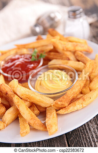 french fries - csp22383672