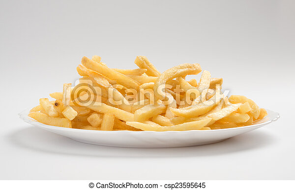 french fries - csp23595645