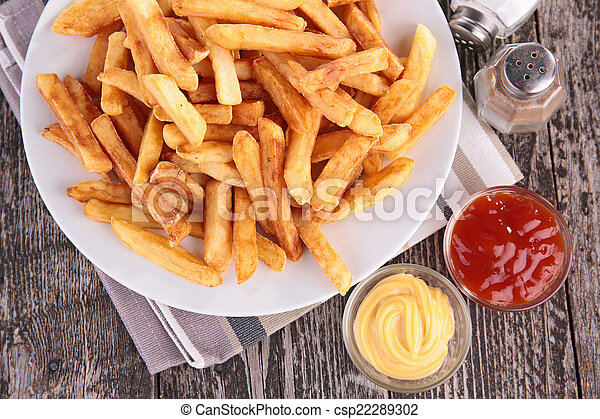 french fries - csp22289302