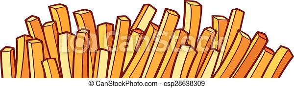 french fries - csp28638309