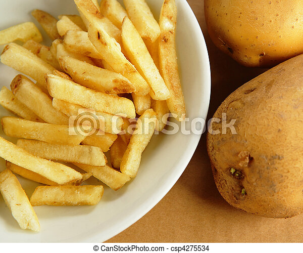 french fries with potato - csp4275534