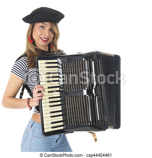 French girl with accordion