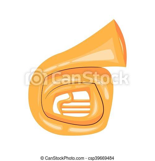 french horn cartoon icon - csp39669484