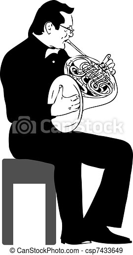 French horn - csp7433649